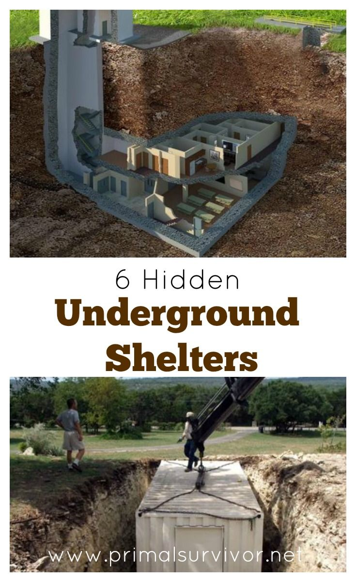 There are a lot of ways to go about creating a hidden underground shelter. Here are 6 examples some examples of hidden underground shelters so you can get ideas for your own secure survival shelter. #undergroundshelters #bunkers #survival #doomsday #emergencypreparedness