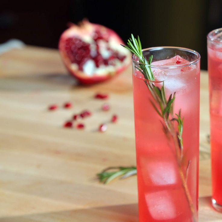 Pomegranate Elderflower Sparkler