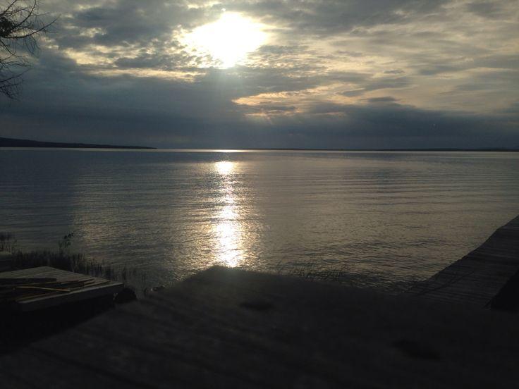 Gorgeous sunset over Lake Superior at Harmony
