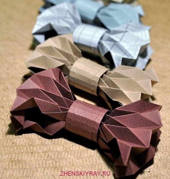 бумажные бабочки галстук своими урками в технике гормошка