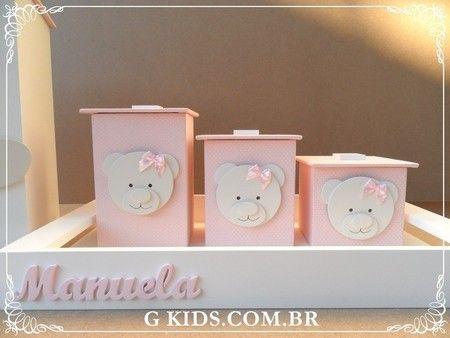 Kit higiene, decoração quarto bebê,quarto para meninas, nursery, baby room, - REF 1062 www.gkids.com.br