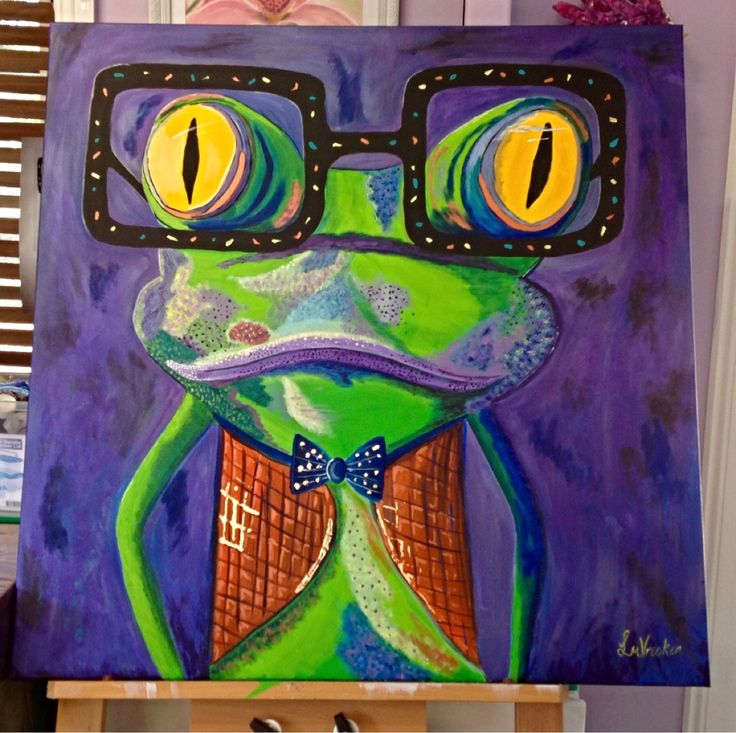 Abstract frog in acrylic