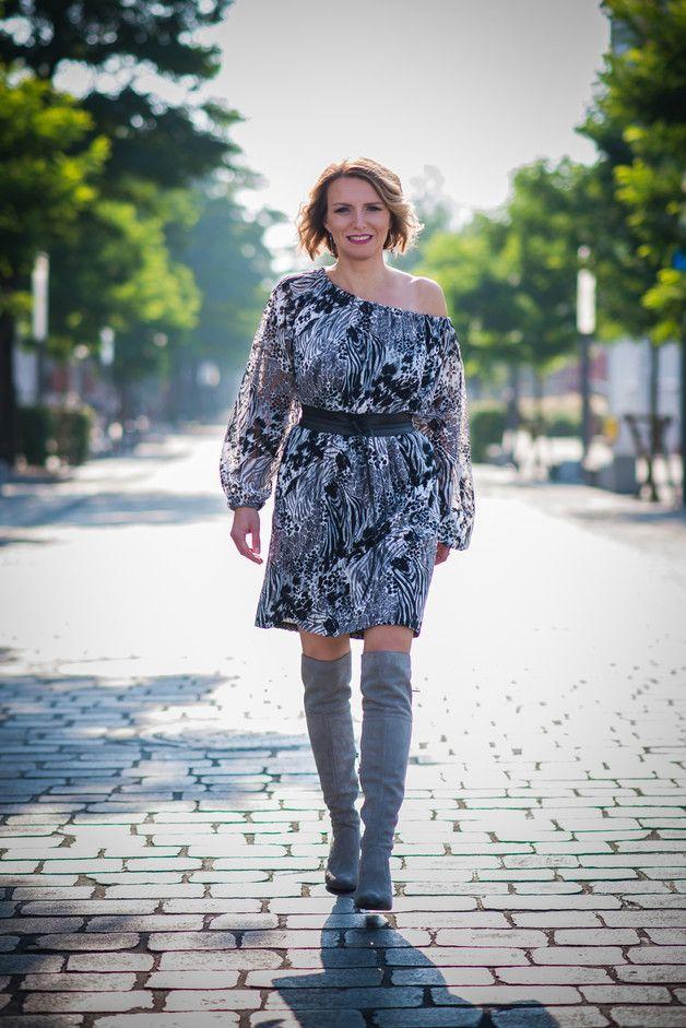 Sukienka dzienna wzory Jennifer JORDJA - jordja - Sukienki midi