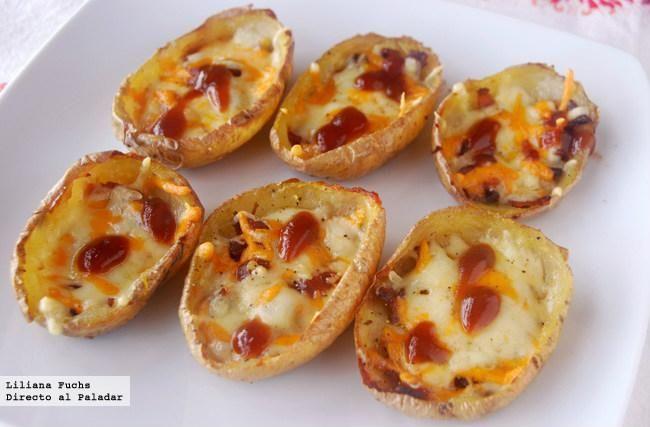Receta de barquitas de patata con queso.