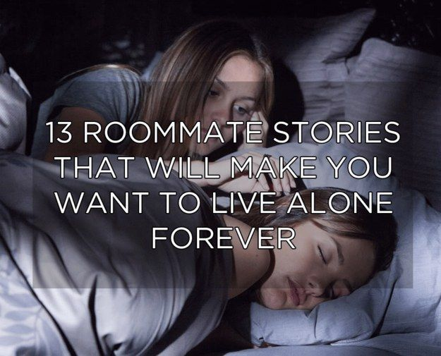 Living with roommate or alone