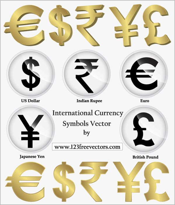 Money Symbol | International Currency Symbols Vector, Png, Indian Rupees