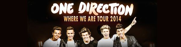 One Direction Where We Are South America tour dates