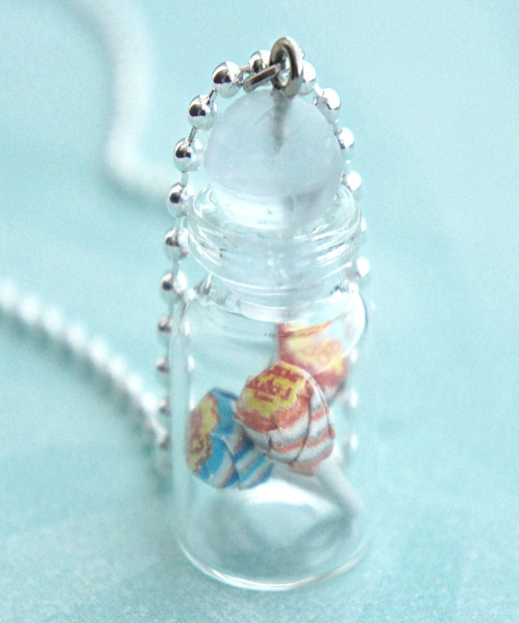 chupa chups lollipops in a jar necklace