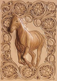 Leather tooling horse