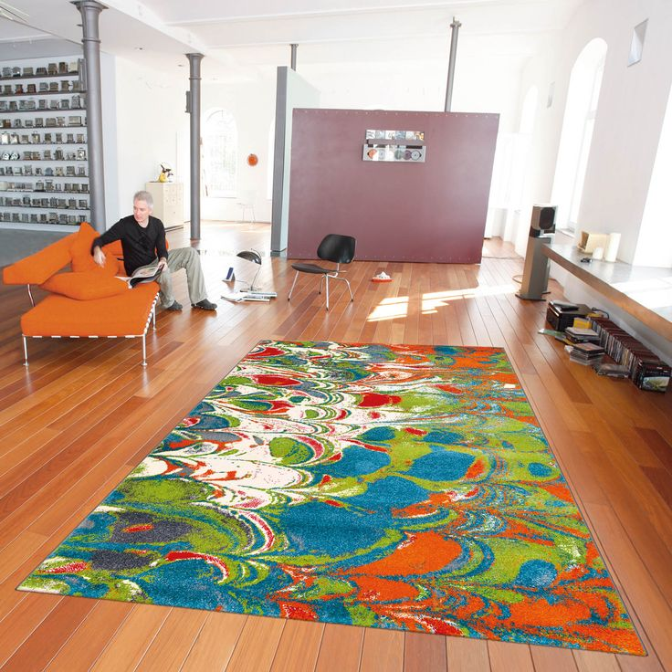 Marble Rugs features a colourful watercolour effect in blue, green, red,  orange and - 110 Best Green Rugs Images On Pinterest Green Rugs, Modern Rugs