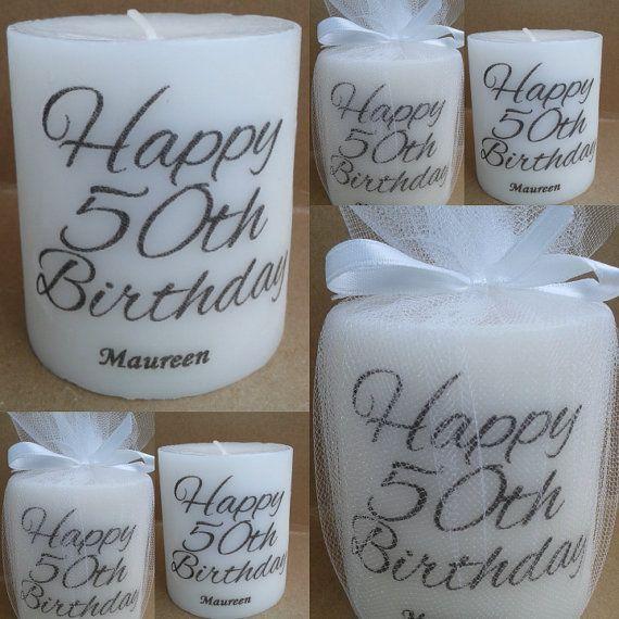 Personalized 50th birthday 50th birthday by SassyCandleFavors