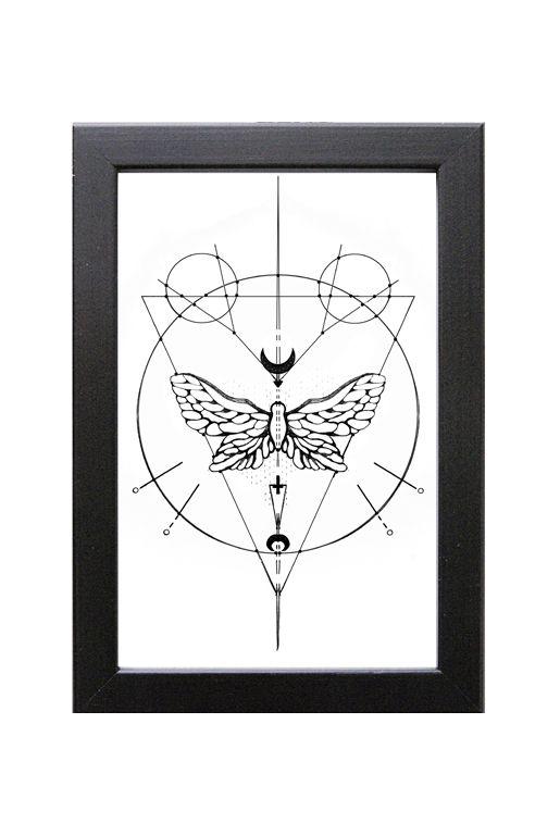 Geometrisk Art print – Fjäril | Foxboheme