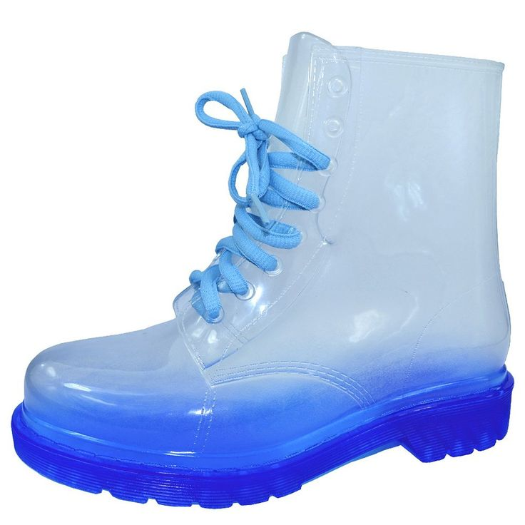 VELCANS Fashion Transparent and Flat Ladies Rain Boots Sale and Women Rain Booties Shoes | Amazon.com