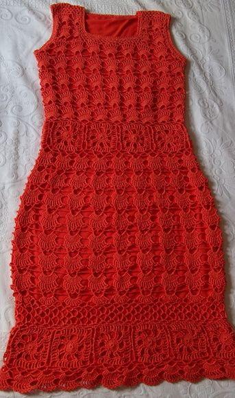 Vestido de Crochê - Motivo de Leques