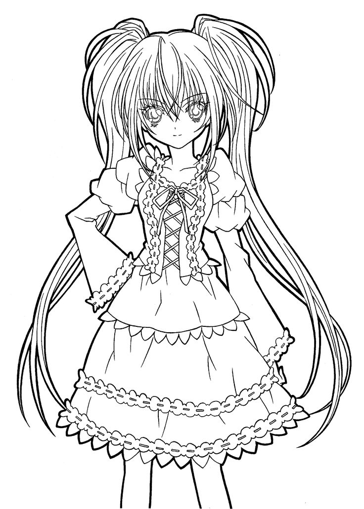 Hotaru fashion shugo chara coloring pages for kids printable free