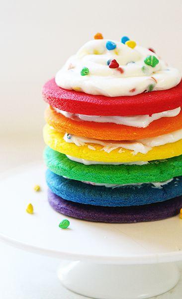 Rainbow Cookie Cake ~ http://iambaker.net