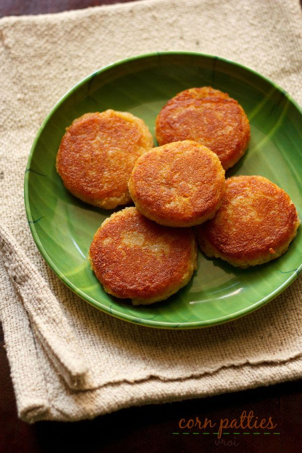 Corn patties or corn cutlet recipe with step by step photos - corn patties is a famous monsoon snack in some parts of india, especially in western india.