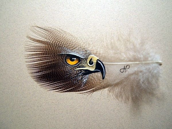 An Amazing Hobby Of Painted Feathers (40 Examples) - Bored Art