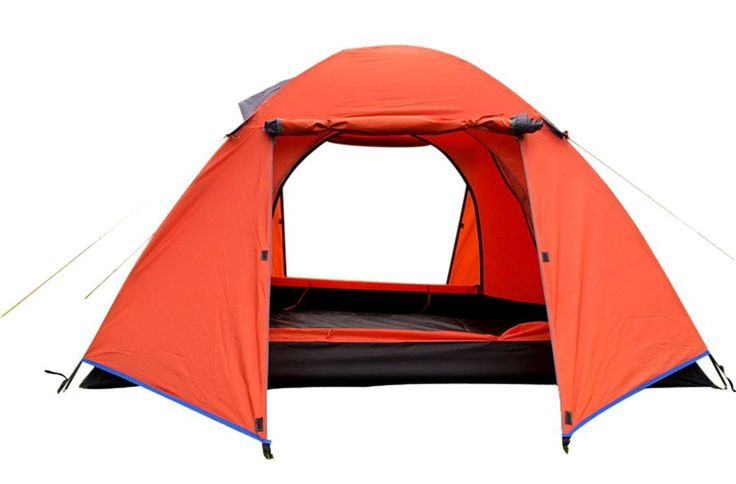 Generic Daily Water-resistant 4 Person Tent Orange > Discover this special product, click the image : Hiking tents