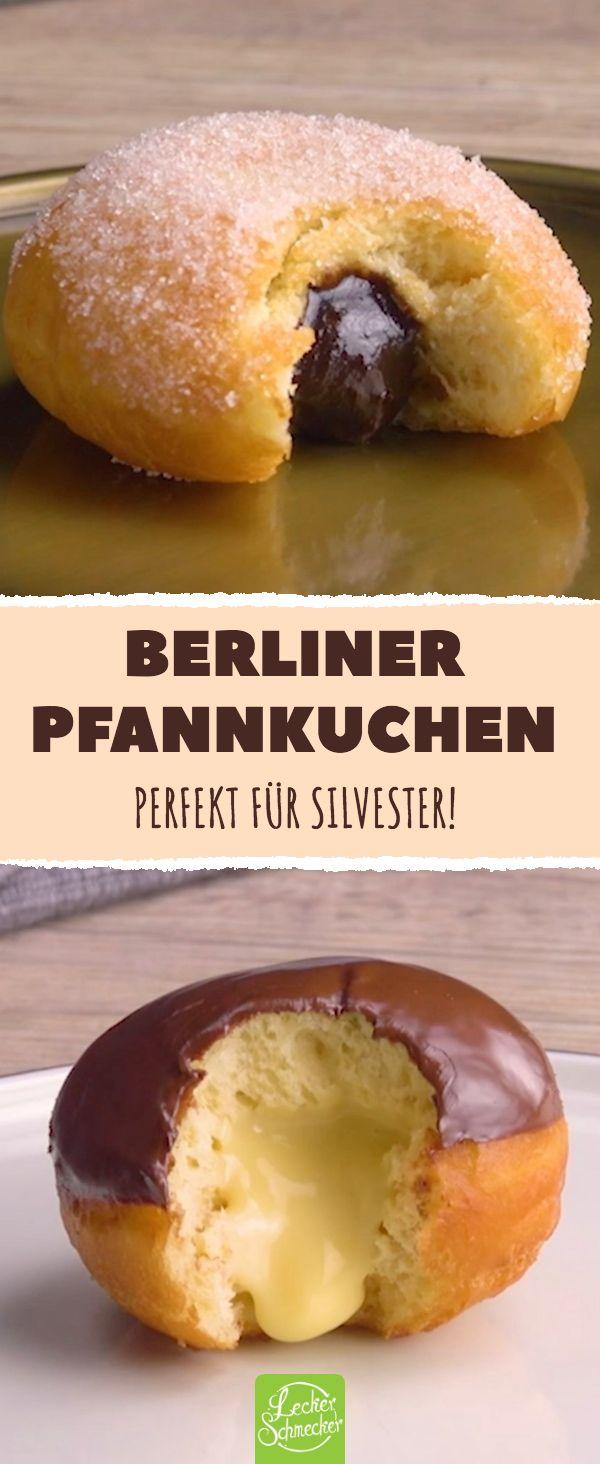 Berliner Pfannkuchen Perfekt für Silvester! #rezepte #pfannkuchen #schokolade # … – Fingerfood – Ideen & Rezepte
