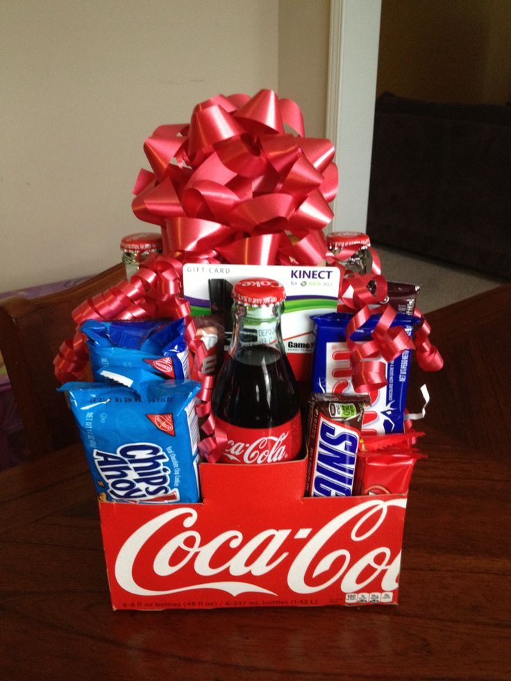 I added more goodies & a gift card on this coke gift pack for sonny boy's teammates' bday.