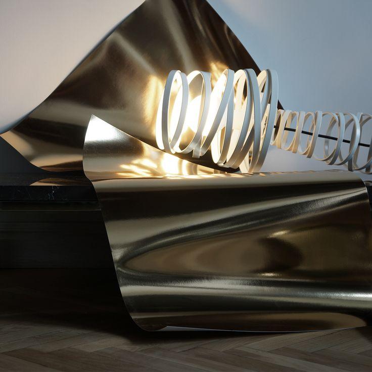 Curl My Light, design Dima Loginoff dimaloginoff.com for Studio Italia Design studioitaliadesign.com #ligh #lamp #dimaloginoff #studioitaliadesign #interior
