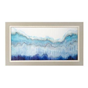 Shades of Blue Framed Art Print | Kirklands Frame measures 55.5L x 1.5W x 31.5H in.