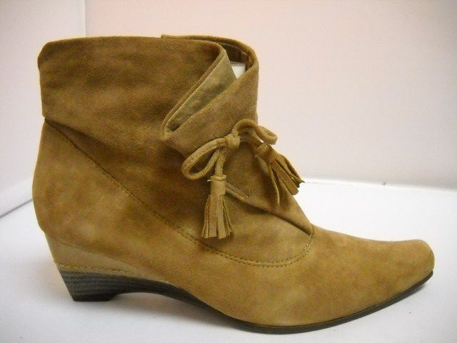 1 Sweet Axmen - D - Sweet Axmen from Pindiere made in France.  Suede ankle boot available in Black and Taupe.  Tapered heel with height of 5cm. Folded front piece with tie.   Full size zip.  Sizes range 36-41.