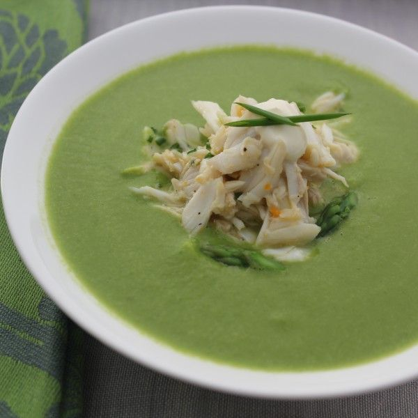 ... Cold Asparagus Soup With Lump Crabmeat as a first course this Easter