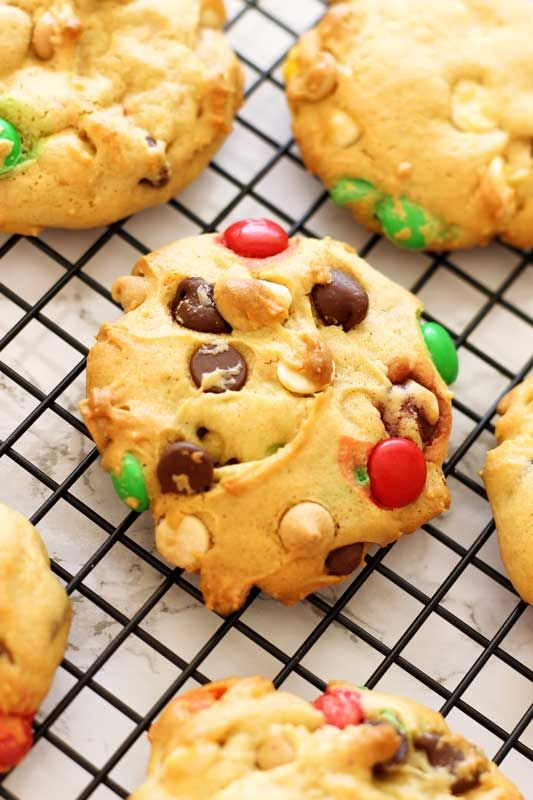 The BEST cookies EVER! Boyfriend Cookies! M&Ms, Reese's Pieces, White Chocolate Chips, Milk Chocolate  Chips and Peanut Butter Chips!   Gluten Free Version Available!