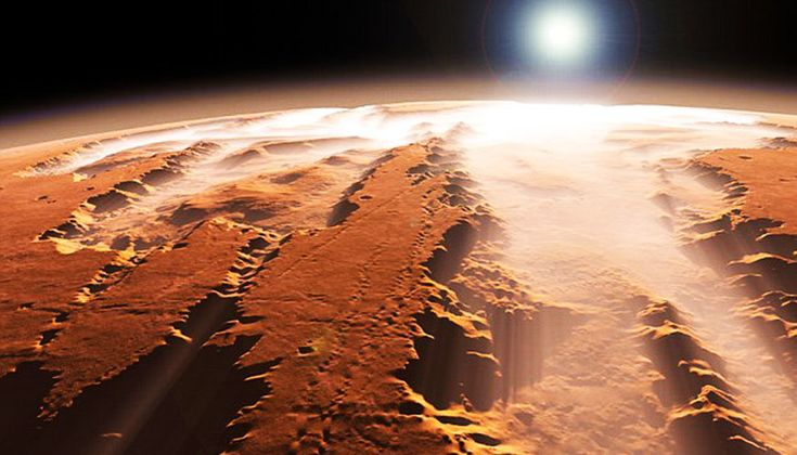 Liquid water is not stable on Mars' surface because the planet's atmosphere is too thin and temperatures are too cold. However, at one time Mars hosted a warm and wet surface environment that may have been conducive to life. A significant unanswered question in planetary science is when Mars underwent this dramatic change in climate conditions.
