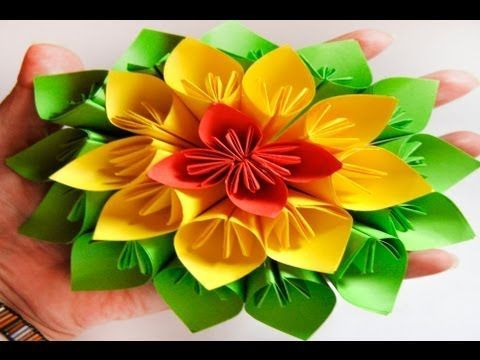getlinkyoutube.com-DIY: Flor De Papel Estilo Kusudama - Brotes De Creatividad