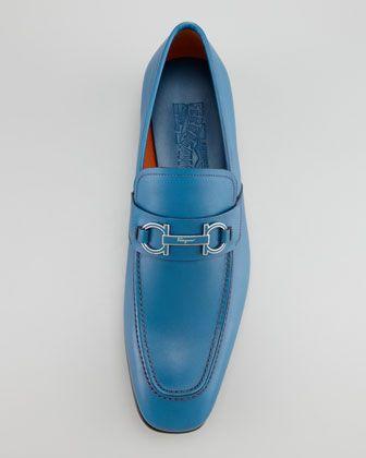 Salvatore Ferragamo Tribute Bit Loafer, Blue - Neiman Marcus