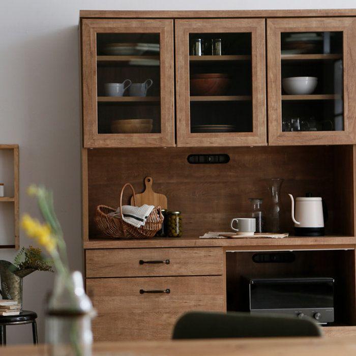キッチンカウンター キッチン収納 幅120cm 国産 完成品 食器棚 開梱