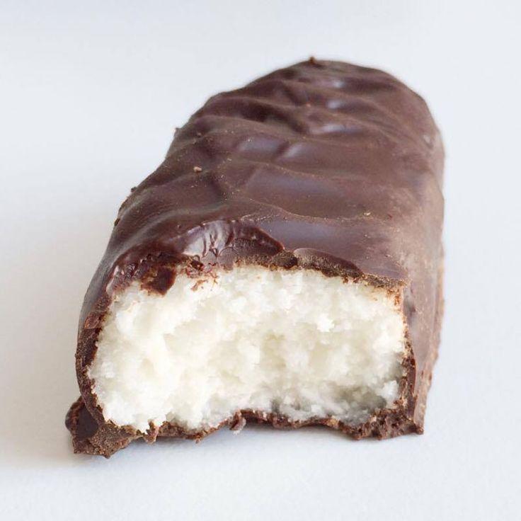 Gezonde kokos repen met chocolade