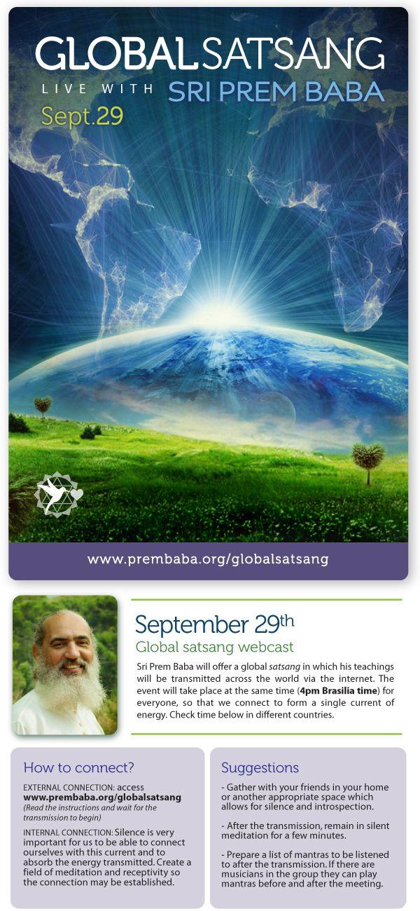 Global Satsang: live with Sri Prem Baba tomorrow
