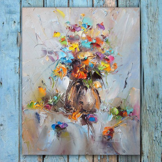Flowers Oil Painting Still Life Painting от StanislavLazarovArt