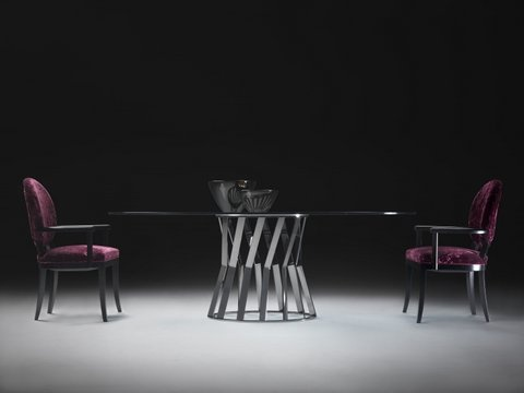 Ray #table with black nickel base