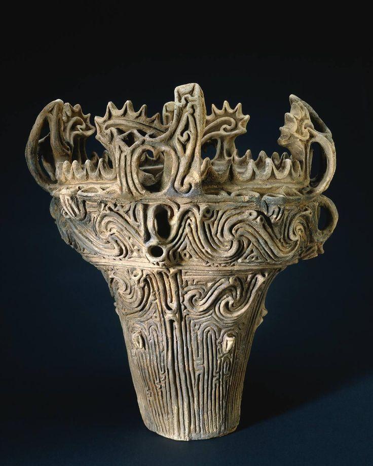 Ancient Jomon Clay Vessel, Japan
