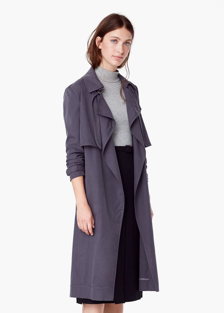 Flowy Trench from MANGO