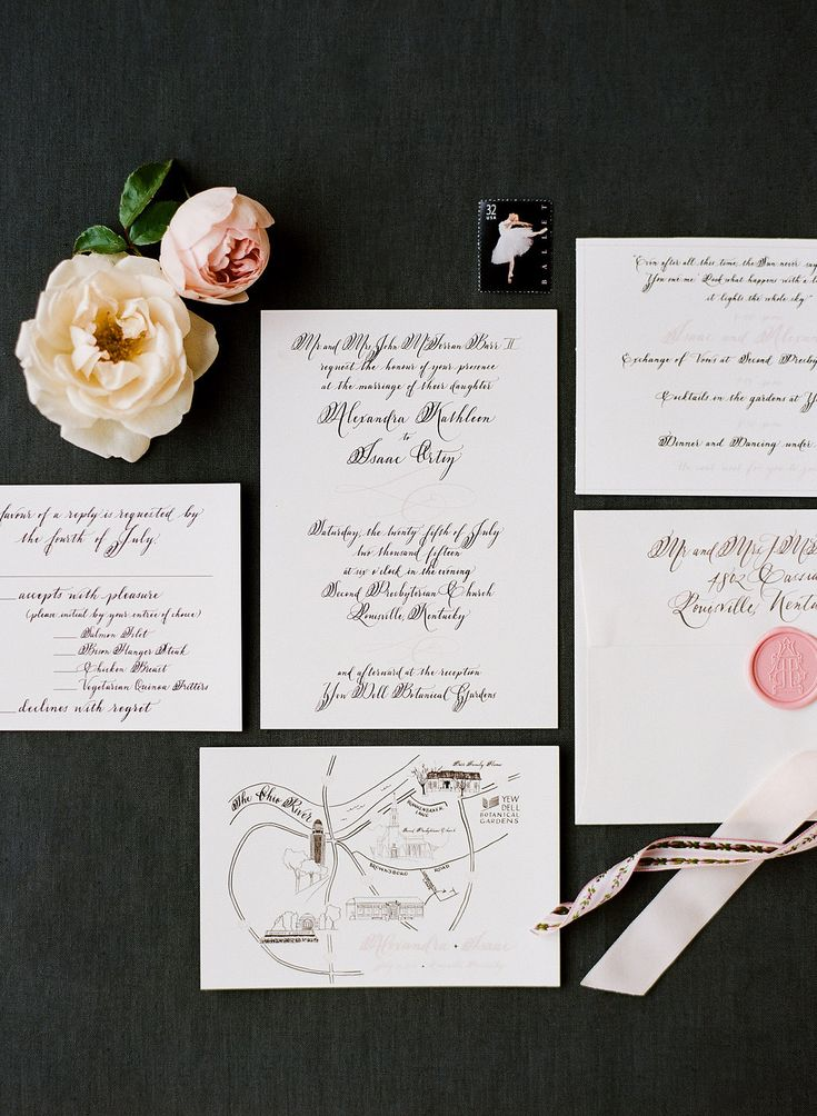 Calligraphy and custom maps for weddings and events