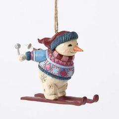 Skiing Snowman Ornament - 4053842 $20.00
