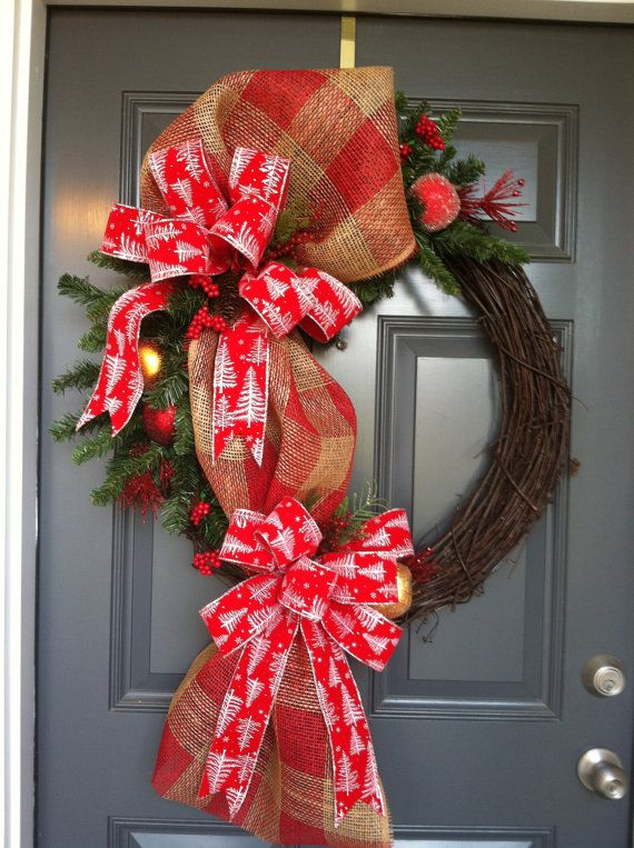 Christms Wreath  Traditional Christmas Wreath by CindysSilks, $64.00
