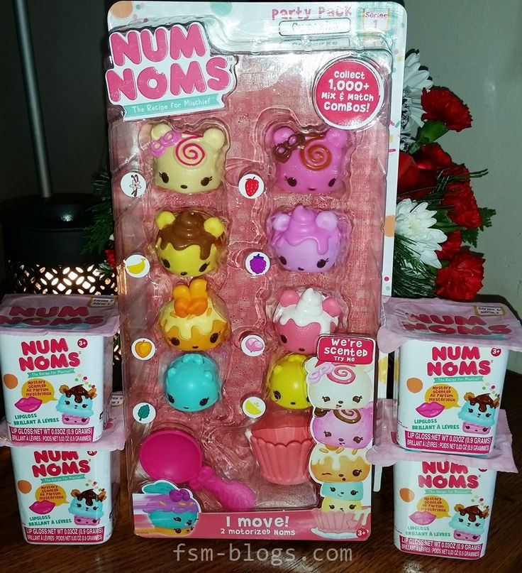 """Num Noms Scented Collectible Toys - Seen on YouTube by my tween granddaughter & on her wish list for Christmas. Actually she only wants the Lipgloss one as she is really into all kinds of makeup. I was now on a mission to discover what a Num Nom was! Brand new mini collectible toy on 12/1, sold only at ToysRUs in Dec then other stores in Jan '16. Lipgloss comes only in a """"blind bag"""" which looks like a yogurt cup on the same rack as other varieties. If you can find a store that has them in…"""