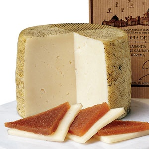 Manchego con Membrillo. Spanish sheep's milk cheese with quince paste.