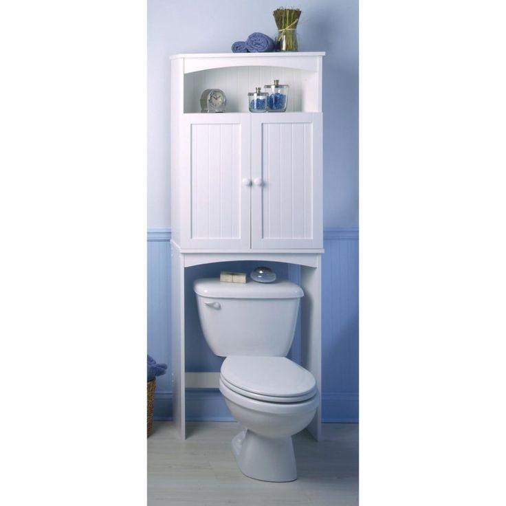 Space Saving Bathroom Storage My Web Value - Wyndenhall hayes white bathroom space saver cabinet