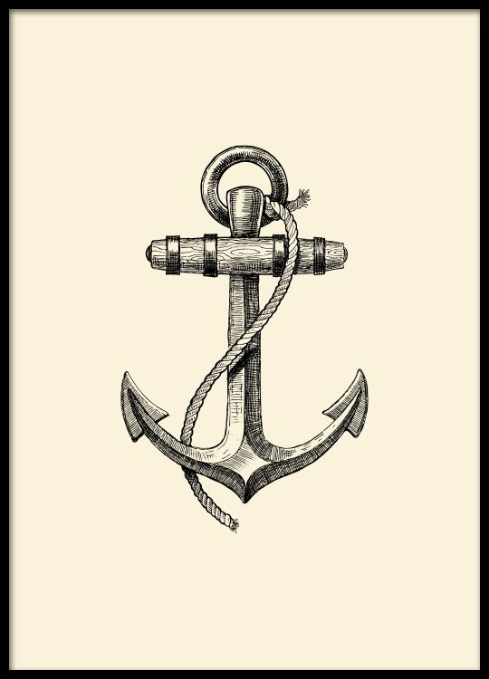 Anchor, poster in the group Posters & Prints at Desenio AB (8517)
