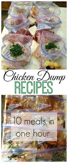 Chicken Dump Recipes - 10 meals in one hour!