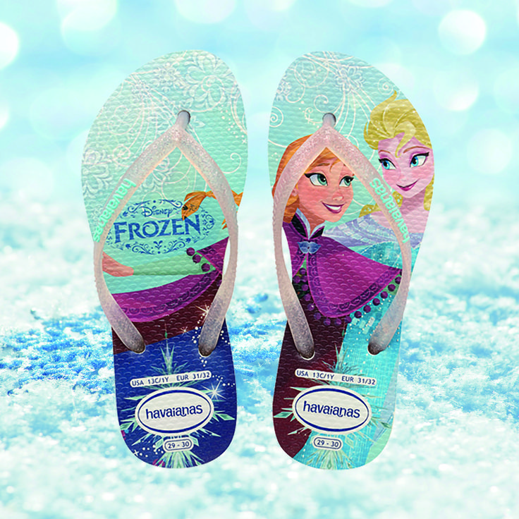 The ideal ‪#‎ChristmasGift‬ - perfect for those kids who just won't 'let it go!' ‪#‎Havaianas‬ ‪#‎Frozen‬ available online at http://www.havaianas-store.com/…/flip-fl…/kids-slim-princess