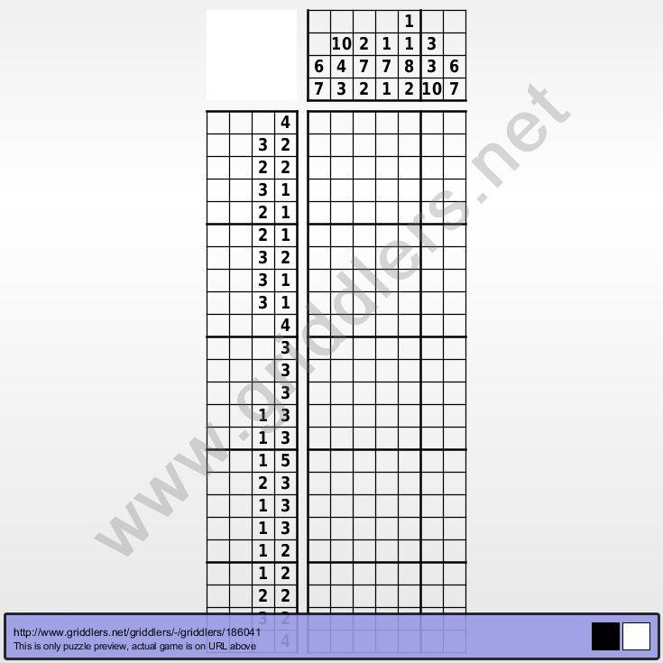 Griddlers puzzle 186041 - Number 8